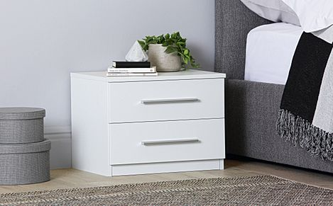 Rauch Vereno White 2 Drawer Bedside Table
