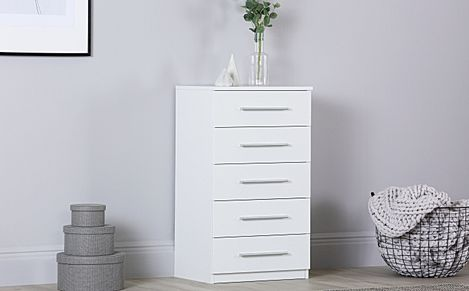 Rauch Vereno White 5 Drawer Chest of Drawers