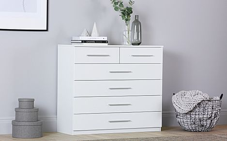 Rauch Vereno White 6 Drawer Chest of Drawers