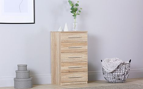 Rauch Vereno Light Oak 5 Drawer Chest of Drawers