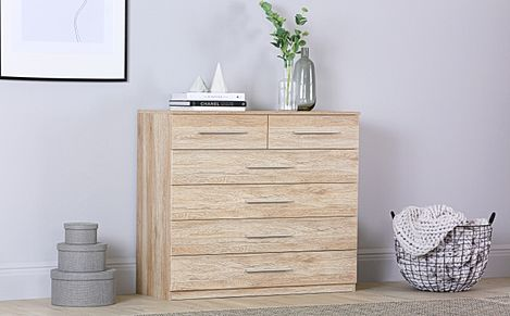 Rauch Vereno Light Oak 6 Drawer Chest of Drawers