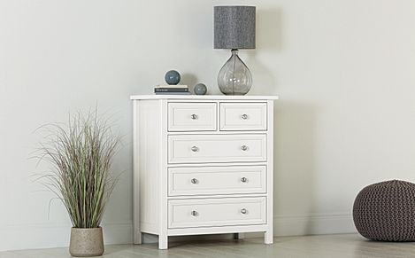 Dorset White 5 Drawer Chest of Drawers