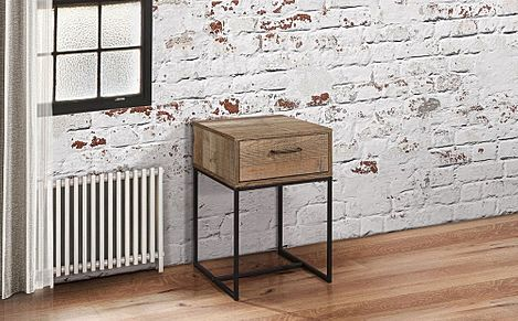 Urban Rustic 1 Drawer Bedside Table