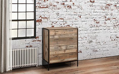 Urban Rustic 4 Drawer Chest of Drawers