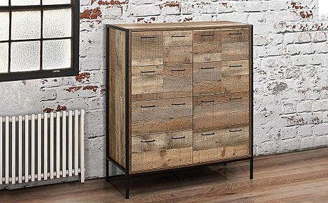 Urban Rustic Merchant 12 Drawer Chest of Drawers