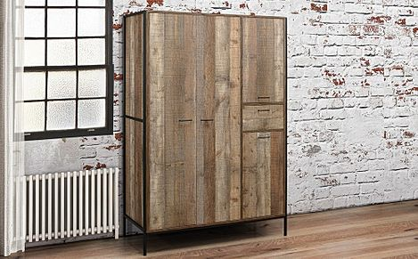 Urban Rustic 4 Door 1 Drawer Wardrobe