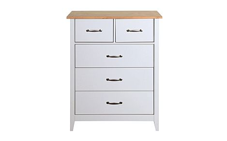 Norfolk Grey and Oak 5 Drawer Chest of Drawers
