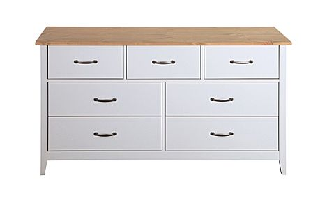Norfolk Grey and Oak 7 Drawer Chest of Drawers