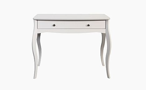 Baroque White 1 Drawer Dressing Table