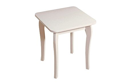Baroque White Dressing Table Stool