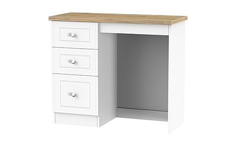 Vienna Porcelain Ash and Bordeaux Oak 3 Drawer Dressing Table