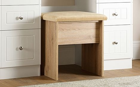 Vienna Bordeaux Oak Dressing Table Stool