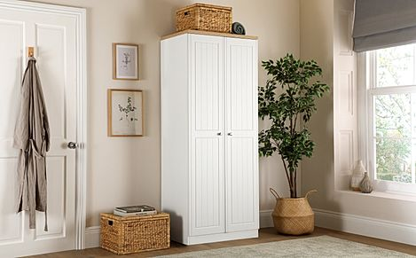 Vienna Porcelain Ash and Bordeaux Oak 2 Door Wardrobe