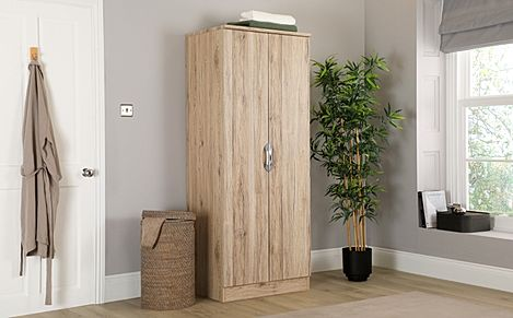 Camden Oak 2 Door Wardrobe