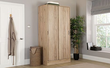 Camden Oak 2 Door Sliding Wardrobe