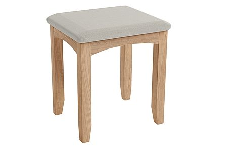 Arden Light Oak Dressing Table Stool
