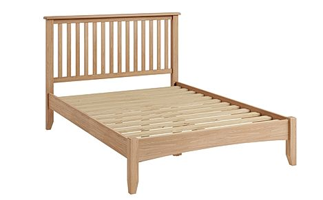 Arden Light Oak Wooden King Size Bed