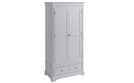Berkeley Painted Grey 2 Door 2 Drawer Wardrobe