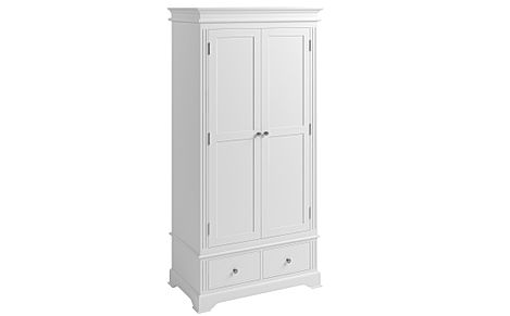 Berkeley Painted White 2 Door 2 Drawer Wardrobe