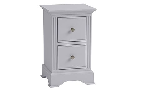Berkeley Painted Grey 2 Drawer Bedside Table