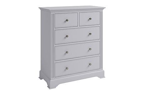 Berkeley Painted Grey 5 Drawer Chest of Drawers