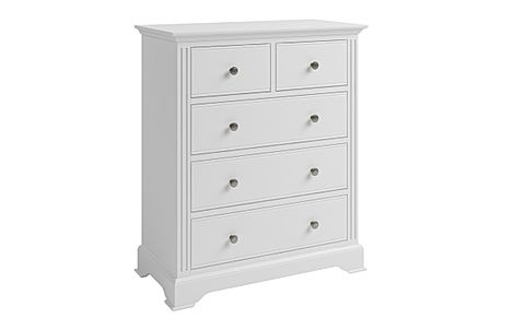 Berkeley Painted White 5 Drawer Chest of Drawers
