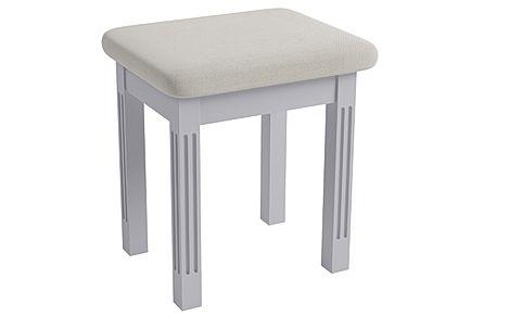 Berkeley Painted Grey Dressing Table Stool