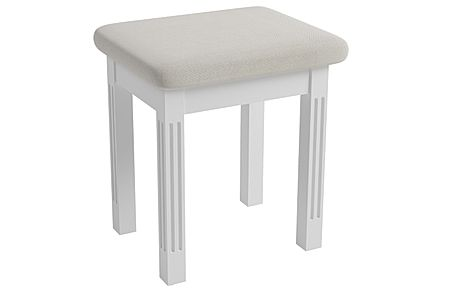 Berkeley Painted White Dressing Table Stool