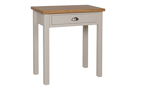 Newton Painted Grey and Oak 1 Drawer Dressing Table