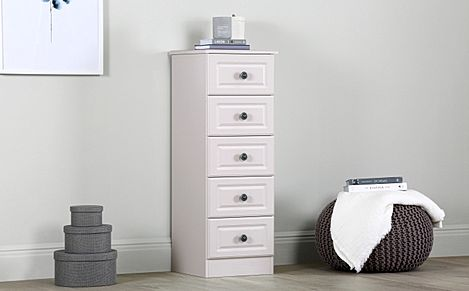 Pembroke Stone Narrow 5 Drawer Chest Of Drawers