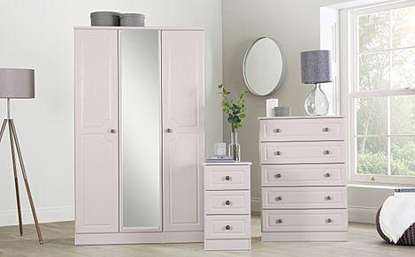 Pembroke Stone 3 Piece 3 Door Wardrobe Bedroom Furniture Set