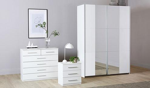 Fellbach White Bedroom Furniture