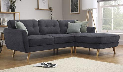 Harlow Slate Corner Sofa