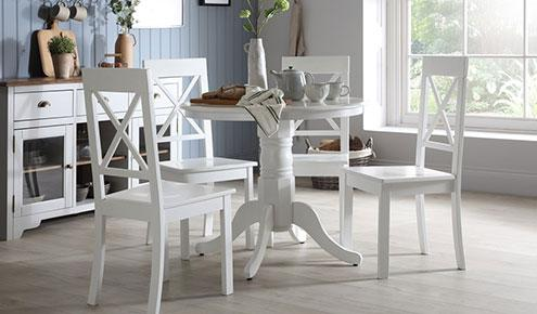 Kingston & Kendal White Dining Set