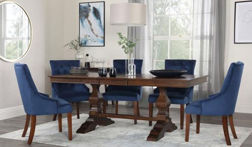 Cavendish & Duke Velvet Dining Set