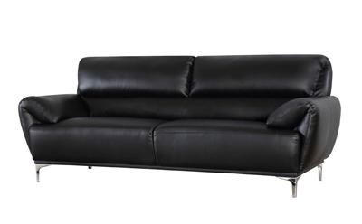 Enzo black 3 seater sofa