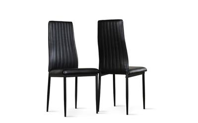Leon black chair black leg