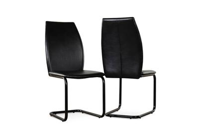 Pica black chair chrome leg