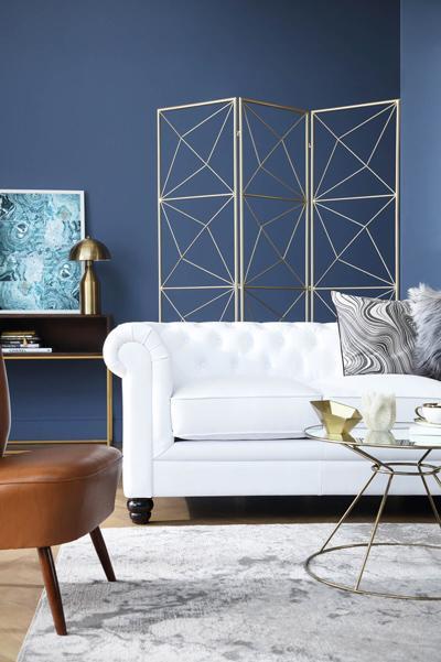 Hampton white seater sofa