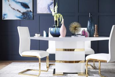 Komoro gold Perth gold leg chair