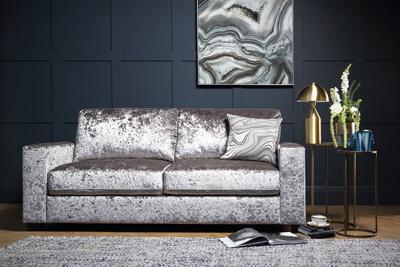 Mission velvet sofa