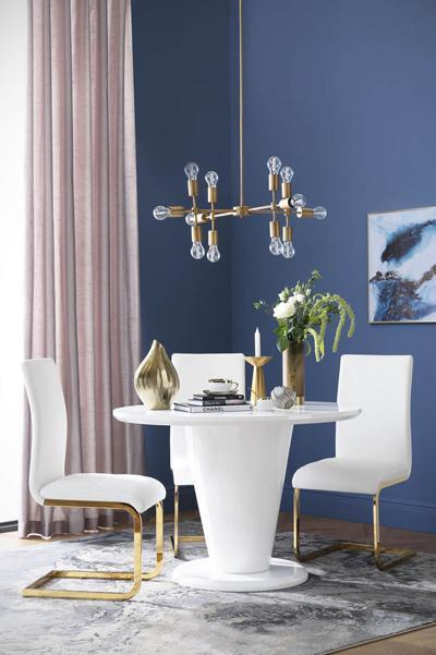 Paris table Perth gold chair