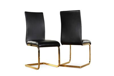 Perth black gold chair