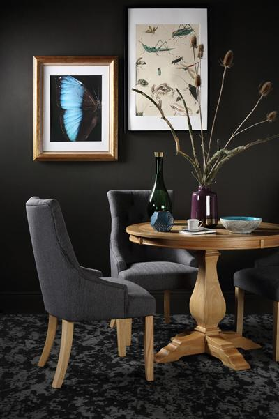 Cavendish round table Duke slate chair