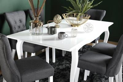 Clarendon white extending table Bewley chair