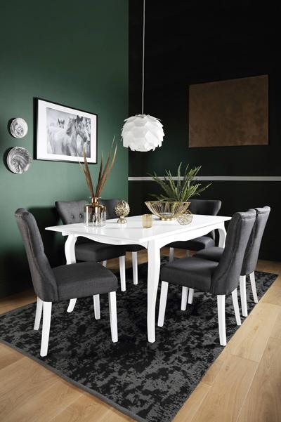 Clarendon white table Bewley chair