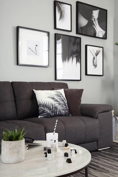 Kansas slate fabric 3 seater sofa