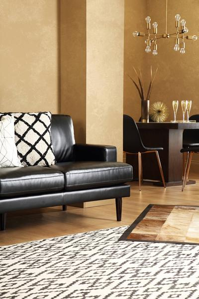 Finsbury 2-seater black leather sofa
