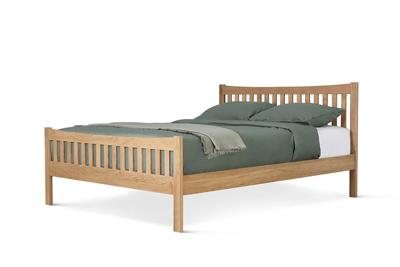 Bergamo double bed oak