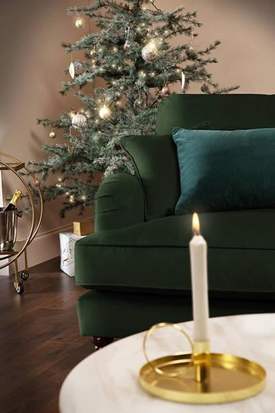 Charleston Green Velvet 2 Seater Sofa